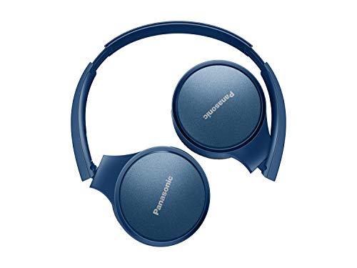 Panasonic RP-HF410BE-A Bluetooth Kopfhörer (24 h Akkulaufzeit, Quick-Charge, Sprachsteuerung, On-Ear, leichte Kopfhörer faltbar) blau