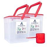 ARK HOME Frischhaltedosen-Set mit Griff und 2 Schaufeln, BPA-frei, luftdicht, 2...