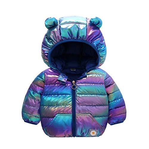 Infant Baby Fleece Winter Coat Jacket,Newborn Boys Girls Long Sleeve Warm Cartoon Hoodie Snowsuit Outfits 0-18M Blue
