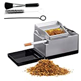BILXXY Máquina de Cigarrillos eléctrica, Máquina portátil de Rodillos de Tabaco con inyector de Tubos de Humo para el hogar, Máquina automática de Liar Cigarrillos