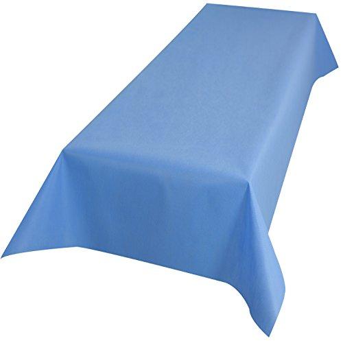 Bierzeltgarnitur Tischdecke aus stoffähnlichem Vlies, Öko-Tex 100, (Farbe & Breite nach Wahl), ideal für jede Party, Catering, Vereinsfeier, Hochzeit, Geburtstagsfeier (1 m x 2,50 m, Hellblau)