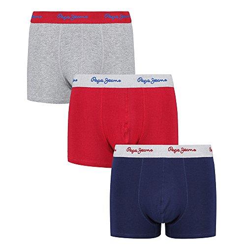 Pepe Jeans Retroshorts 'Ansel' - Hochwertige Boxershorts aus Baumwoll-Mix im 3er Pack - Größe S