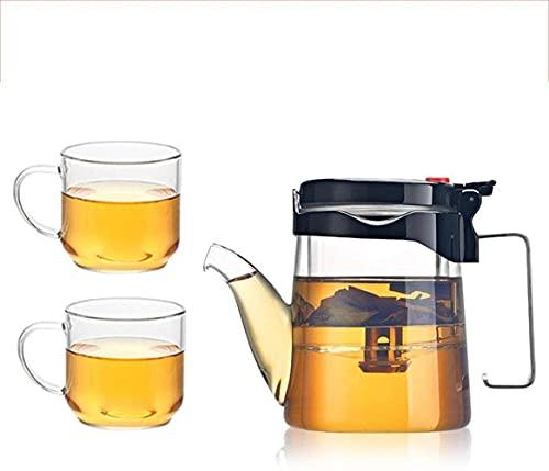 Waterkoker Theepot Cup Theepot Elegante Verdikte Glazen Liner Cup Prachtige Thee Bureau Filter Touch Bloem Theepot met Kleine Kop Thee Cup