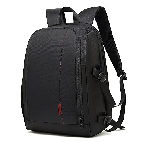 Funda para cámara con compartimento para portátil de 15,6 pulgadas, bolsa impermeable para Nikon Canon Sony lente trípode accesorios fotografía hombres mujeres