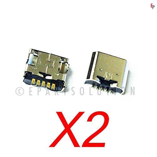 ePartSolution_2X Replacement Part for LG G Pad V521 VK810 UK410 UK495 VK700 VK815 LK430 V400 V410 Micro USB Charger Charging Port Dock Connector USB Port