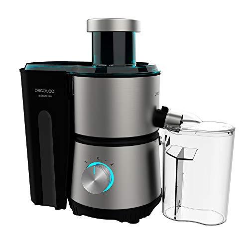Cecotec Licuadora Orbital Juice&Fresh 400 Titan Black. 400 W, 20000 RPM de Velocidad, Tamaño Compacto, 2 Velocidades, Disco con Recubrimiento de Titanio Negro, Sistema antigoteo, Jarra 350 ml