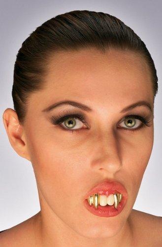 dentiera con canini da Vampiro Dracula + di 14 Anni con Pasta bicomponente per metterli ATTENZIONE la resa dipende fortemente dalla Messa in Opera e dlla Forma del Dente