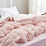 SHSYCER 8 Layer Thickened Cozy Lightweight Muslin Cotton Blanket for Bed, Couch & Sofa, Summer Bedding Coverlet,Pink,F/Q 78''x90''