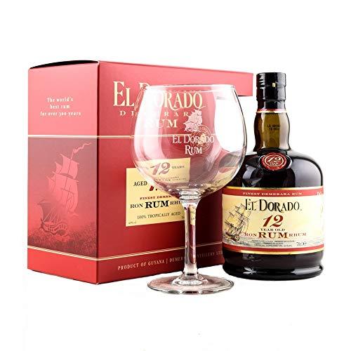 El Dorado 12 Years Old mit Geschenkverpackung mit 1 Glas  Rum (1 x 0.7 l)