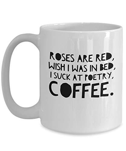 Alicert5II koffiemok zuigt ik op de poëziekoffie grappig koffiekopje cadeautje koffie