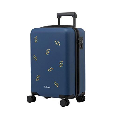 Equipaje Lyl Maleta Ligera de la Maleta TSA Lock PC Funda rígida de la Bolsa de Viaje Carry on Luggage Manual con Ruedas de rotación de 360⁰ (Color : B, Size : 20 Inch)
