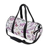 Sporttasche mit Einhorn-, Pegasus-, Blumen-, Schmetterlings-, Schwimm-, Sport- und Reisebeutel mit Schuhfach und Nassfach für Damen oder Herren