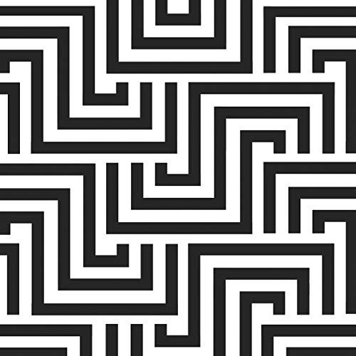 CasaJame Servietten (2er Set / 40Stück) 3-lagig 33x33cm Muster schwarz weiß Linien