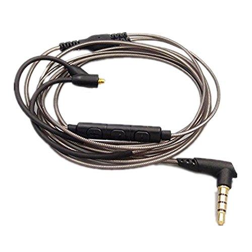 Meijunter Ersatz Fernbedienung Kabel Schnur Leitung Linie Draht 1.2M für Shure SE535 SE215 SE846 Logitech UE900 Kopfhörer