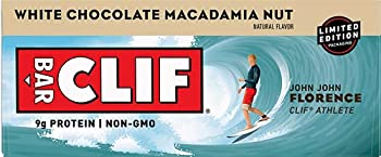 CLIF BARS - Energy Bars - White Chocolate Macadamia Nut Flavor - Made with Organic Oats - Plant Based Food - Vegetarian - Kosher  2.4 Ounce Protein Bars 12 Count  Packaging May Vary