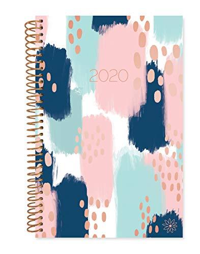 bloom daily planners Calendario 2020 año diario planificador libro – cubierta suave semanal/mensual agenda con fecha organizador (enero 2020 - diciembre 2020) – 15,24 x 21 cm – Trazos de pintura