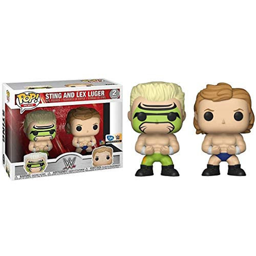 POP WWE : Sting and Lex Luger 2 Pack (FYE Exclusive) 3.75inch Vinyl Gift for Professional Wrestling Fans SuperCollection