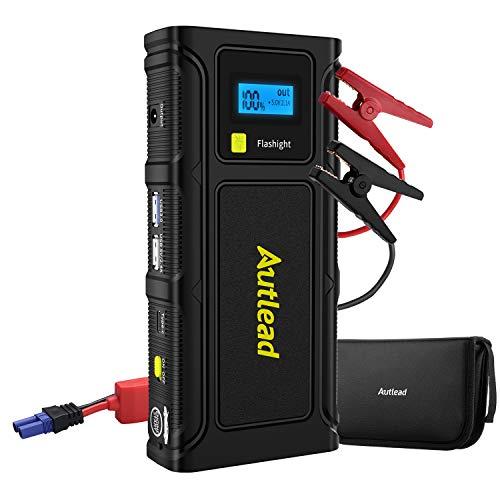 AUTLEAD Starthilfe Powerbank 1000A, 12V Auto-Starthilfe für bis zu 6 Liter Benzin- und 3 Liter Dieselmotoren