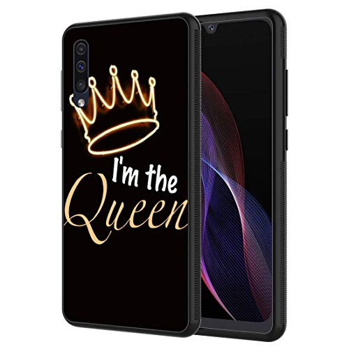 Galaxy A10E Case,Vobber Slim Anti-Scratch Architecture TPU Shockproof Protective Case Cover for Samsung Galaxy A10E,Queen Crown