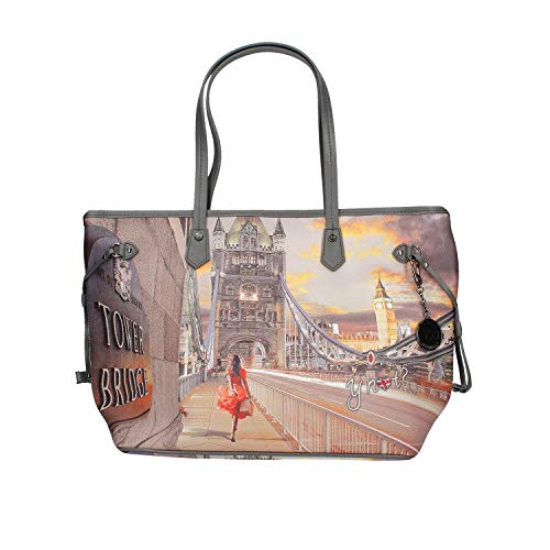 YNOT Shopping Bag Medium YES-319F0 GREY-LONDON 44,5 x 16,8 x 28,6 cm