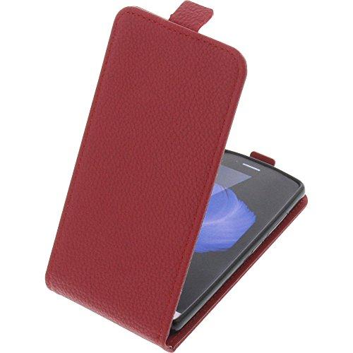 foto-kontor Tasche für TP-Link Neffos C5L Smartphone Flipstyle Schutz Hülle rot