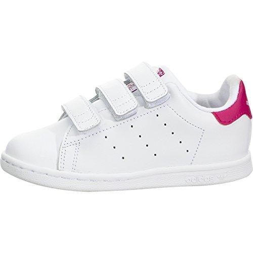 adidas Originals Girls' Stan Smith CF I Running Shoe, White/Bold Pink, 9.5 M US Infant