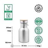 Pure Design – 350 ml Edelstahl Trinkflasche in Geschenk Verpackung - 2