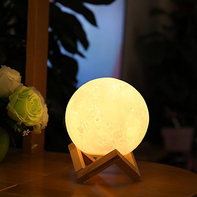 Mondlichter 3D Druck Mondlicht Nachtlichter Kreative Lumineszenz Mond Lampe Hnge LED Nachtlichter 12cm Touch