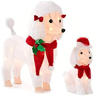 poodle outdoor christmas decorations