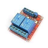 X-DREE Tarjeta de módulo de relé de alimentación de 2 canales opto-aislador de disparador de nivel alto/bajo de 5 V(5V High/Low Level Trigger Opto-isolator 2-CH Power Relay Module Board