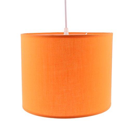 LOVIVER Lámpara Cilíndrica De La Lámpara De La Sombra Pantalla De La Sombra Pantalla del Techo Iluminación del Hogar - Naranja