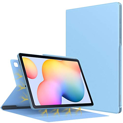 TiMOVO Case for All-New Samsung Galaxy Tab S6 Lite 10.4 Inch 2020 (SM-P610/P615), Ultra Slim Lightweight Magnetic Stand Cover with Auto Sleep/Wake Fit Galaxy Tab S6 Lite 10.4 2020 Tablet - Light Blue