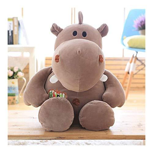WJTMY Hippo Niedlich Stofftier Plüschtier - Entzückende weicher Hippopotamus Spielzeug und Geschenke for Kinder, Babys, Kleinkinder - Hippi (Color : C, Size : 45cm)