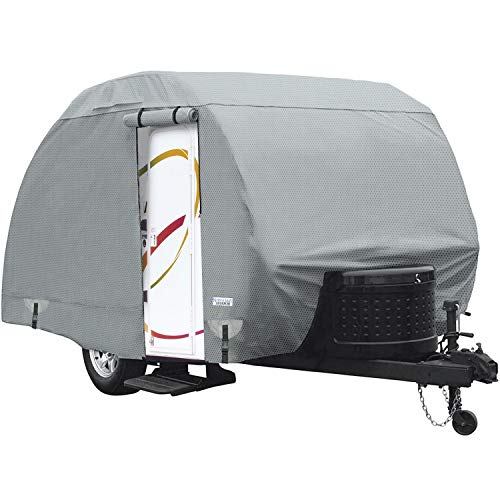 North East Harbor Waterproof Superior Teardrop R-Pod Travel Trailer Storage Cover Fits Up To 13' 7' Long and 6' Wide Trailers - Direct Fitment for Forest River R-Pod Model RP-151