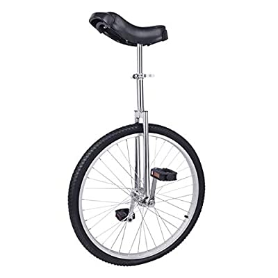 """YHXING 20"""" Inch Wheel Unicycle Leakproof Butyl Tire Wheel Cycling Mountain Bike Outdoor Sports Fitness Exercise Health-Black"""