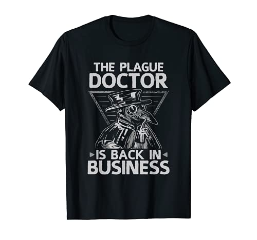Back In Business Disfraz de Halloween Medieval Plague Doctor Camiseta