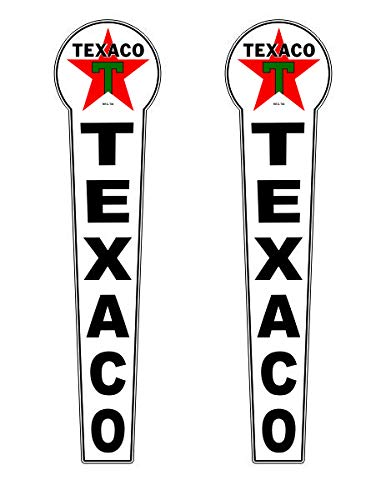 Pair of 25' X 6' Texaco Gas Oil Vinyl Decal Lubester Sides Oil Pump Lubster Restoration