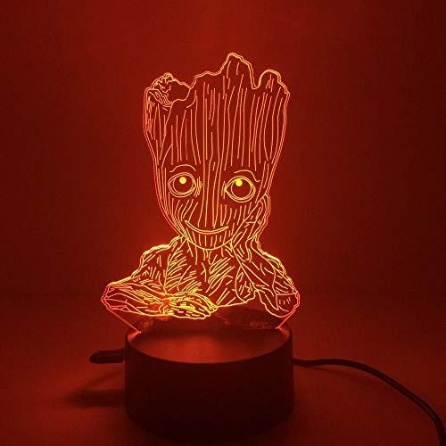 3D-led-nachtlampje voor peuters, met 7 decoratieve lichtkleuren voor thuis en een verbazingwekkende optische kinderweergave.