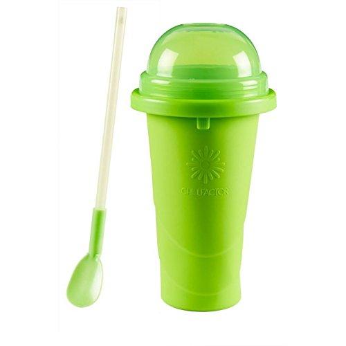 weg-ist-weg.com Chillfactor Slusheis Maker/Slush EIS Maschine in grün, BPA-Frei/Lebensmittelecht - Slushymaker, Eisbecher 240 ml, Wassereis selber Machen