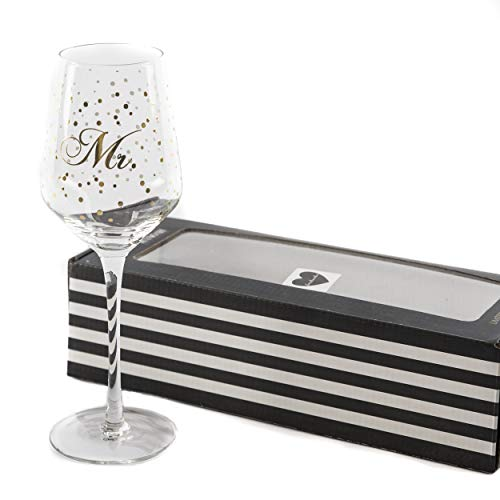 Weinglas Glas Hochzeit Mr. | knuellermarkt24.de | Mister Hochzeitsdeko Gläser Gold handgemacht Wein