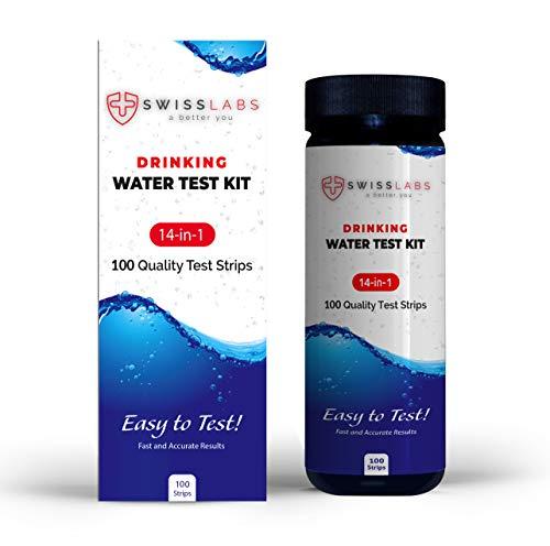 Swiss Lab für eine einfache und genaue Messung, 14 in 1 Wasser-Test-Kit, 100 Streifen