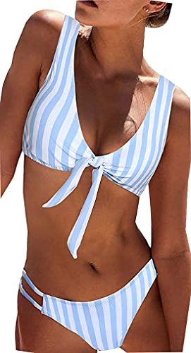 heekpek Donna Costumi da Bagno Sexy Vita Alta Imbottito Reggiseno Bikini Cinturino Pettorale Due Pezzi Swimwear Abiti da Spiaggia Floreale