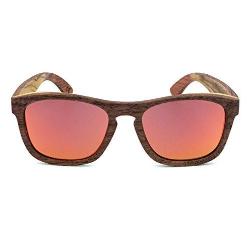 AHY Gafas Vintage De Bambú, Gafas De Sol De Madera Premium/Gafas Polarizadas