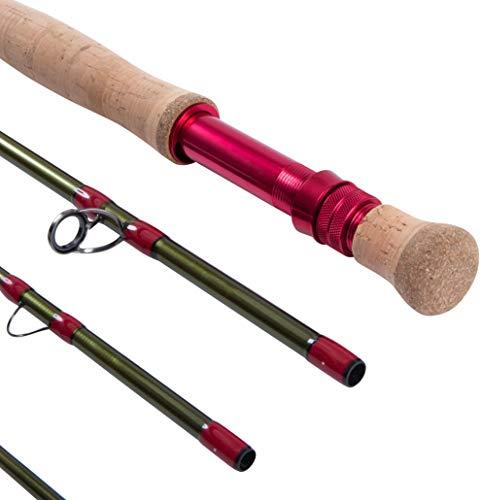 Hawkridge Specialist Pike, canna da pesca con mosca in carbonio ad alto modulo a 4 sezioni, 22,9 cm, marca britannica