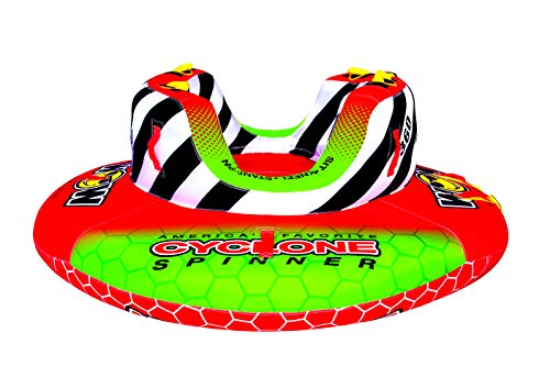 WOW Watersports Cyclone Spinner, 1-2 Person Towable Water Tube, 20-1070, Red