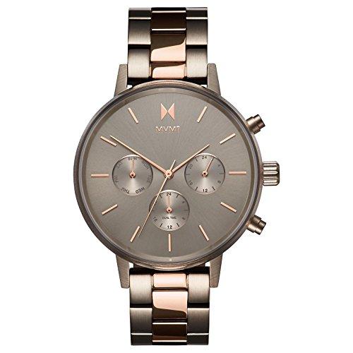 MVMT Damen Multi Zifferblatt Quarz Uhr mit Edelstahl Armband D-FC01-TIRG