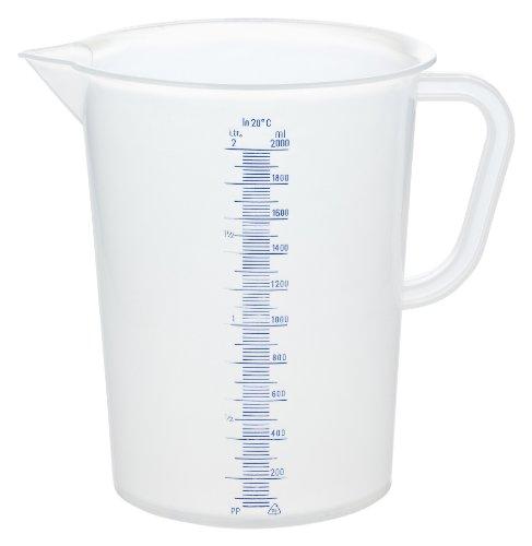 GRÄWE® Messbecher 2 Liter aus Kunststoff mit Literskala