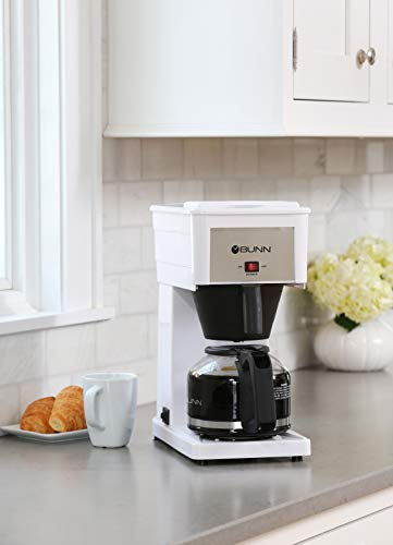 BUNN GRW Velocity Brew 10-Cup Home Coffee Brewer, White