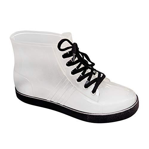 Daytwork Stiefel Stiefeletten Schuhe Damen - wasserdichte Transparente Gummistiefel Schnee Martin Boots Regenstiefel Chelsea