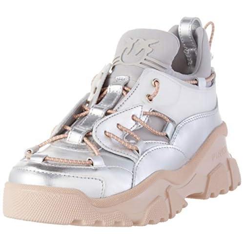 Pinko Cumino 2, Sneaker Infilare Donna, Multicolore (Argento/Rosa In6), 38 EU